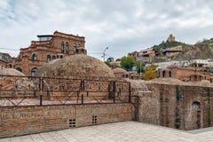 Bains de soufre d'Abanotubani, Tbilisi, la Géorgie Image stock