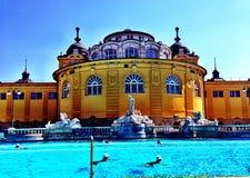 Bains de szechenyi de Budapest Photos libres de droits