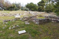 Bains romains d'Athènes photo stock