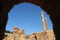 Bains thermiques d'Antonin à Carthage Photo libre de droits