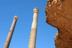 Bains thermiques d'Antonin à Carthage Image stock