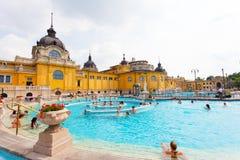 Bains thermiques de Szechenyi à Budapest Photos libres de droits