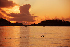 Baiona ηλιοβασίλεμα Στοκ Φωτογραφία