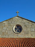 Baiona Church. Front view of the Monterreal Chapel (Baiona Royalty Free Stock Photography