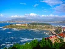 baiona grodowy Spain fotografia stock