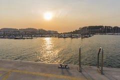 Baiona Pontevedra, Spanje Royalty-vrije Stock Foto's