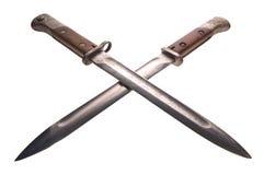 Baionetas cruzadas Imagens de Stock Royalty Free
