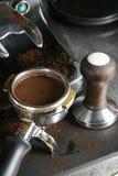 Baionetta Tamped del caffè espresso Fotografie Stock
