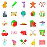 Bairn geplaatste pictogrammen, beeldverhaalstijl vector illustratie
