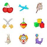 Bairn icons set, cartoon style. Bairn icons set. Cartoon set of 9 bairn vector icons for web isolated on white background vector illustration