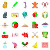 Bairn icons set, cartoon style. Bairn icons set. Cartoon set of 25 bairn vector icons for web isolated on white background Stock Images