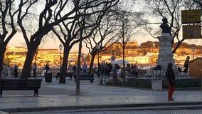 Bairro Alto - Lisboa - Portugal. O Bairro Alto é um bairro antigo e pitoresco no centro de Lisboa, com ruas estreitas e empedradas, casas seculares, pequeno royalty free stock images