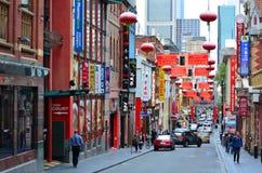 Bairro chinês de Melbourne Imagem de Stock Royalty Free