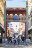 Bairro chinês de Melbourne Foto de Stock