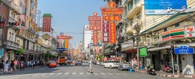 Bairro chinês em Banguecoque, Tailândia Fotografia de Stock