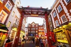Bairro chinês em Londres Inglaterra Fotografia de Stock Royalty Free