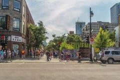 Bairro chinês em Montreal Fotografia de Stock