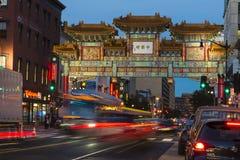 Bairro chinês no Washington DC imagem de stock royalty free