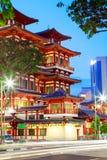 Bairro chinês Singapura do templo da relíquia de Toothe da Buda Foto de Stock