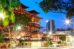 Bairro chinês Singapura do templo da relíquia de Toothe da Buda Fotografia de Stock