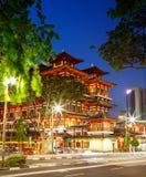 Bairro chinês Singapura do templo da relíquia de Toothe da Buda Fotos de Stock