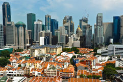 Bairro chinês e distrito financeiro de Singapura Fotos de Stock Royalty Free