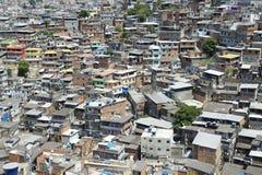 Bairro degradado brasileiro Rio de janeiro Brazil do montanhês de Favela foto de stock royalty free