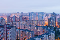 Bairro social em Kiev, Ucrânia Fotos de Stock Royalty Free