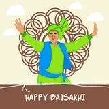Baisakhi feliz Foto de Stock