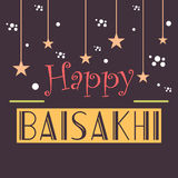 Baisakhi feliz Imagem de Stock Royalty Free