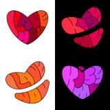 Baiser, amour, coeur Images libres de droits