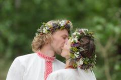 Baiser au mariage Photographie stock libre de droits