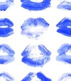 Baiser bizarre acide tiré par la main de rouge à lèvres d'illustration de mode Modèle sans couture femelle avec les lèvres au néo illustration stock