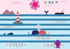 Baiser de baleines Image stock