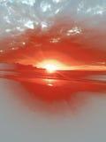 Baiser de coucher du soleil Image stock
