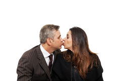 Baiser de couples Image libre de droits