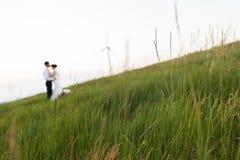 Baiser de couples Photos stock