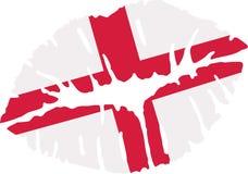 Baiser de drapeau de l'Angleterre illustration libre de droits