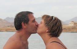 Baiser de l'amour Photo libre de droits