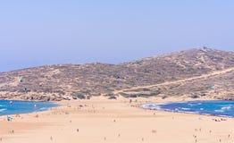 Baiser des deux mers (Prassonisi) Rhodes Island Photographie stock