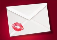Baiser + enveloppe Photo stock