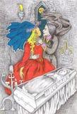 Baiser sur le valentine Image libre de droits