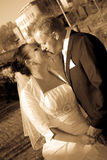 Baiser Wedding Photos libres de droits