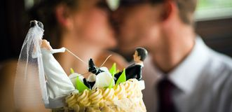 Baiser Wedding Image stock