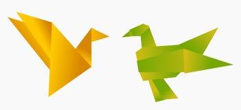 Baisers d'oiseaux d'Origami Images libres de droits