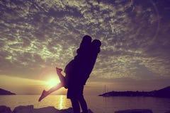 Baisers de coucher du soleil Image stock