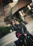 baisers de couples Photographie stock