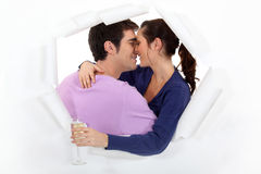 Baisers de couples Photos stock