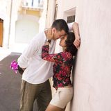 Baisers de couples Images stock