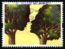 Baisers de l'affranchissement BRITANNIQUE Stamo d'arbres Image stock